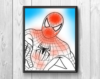 "Posters with the comic book superhero ""Spider-Man"""