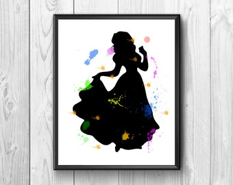 snow white, snow white print, Snow White cartoon