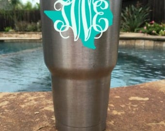 Personalized Butterfly Vinyl Decal For YETI Corkcicle RTIC - Custom car decals houston   how to personalize