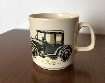 "Vintage 1960s Johnson of Australia Coffee Mug ""1920 Rover Eight"" / Tea Cup / Made in Australia / Stoneware"