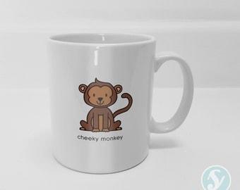 Cheeky Monkey - Nickname/Pet Name Mug - Cute - Animals - Friendship - Gift