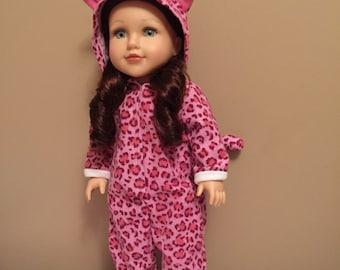 18inch doll leopard onesie