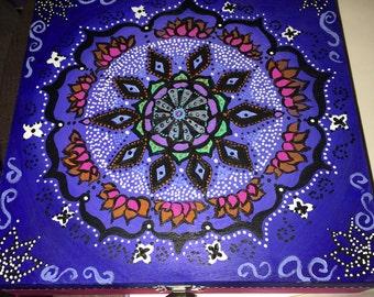 Hand painted mandala box