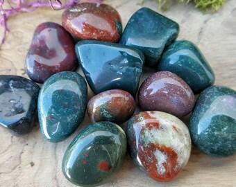 Bloodstone Crystal Tumbled Stone -  Pocket Palm Stone 122