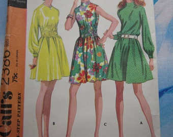 McCalls 2386 1970 Dress Sewing Pattern 16