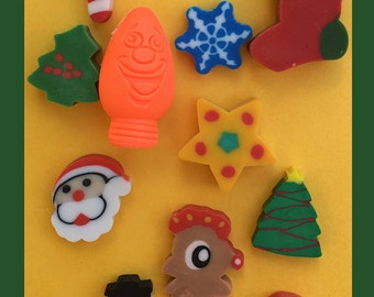 Holiday Eraser Collection Set