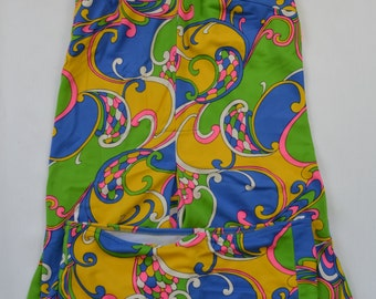 1970s swimsuit | two piece swimsuit | tankini | Size M