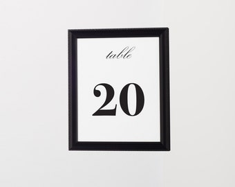Table Numbers, Wedding Table Numbers, Gold Table Numbers, Table Numbers For Wedding, Table Number Cards, Printable Table Numbers