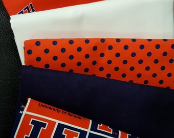 Illini Cotton Fabric - 1 yard cuts