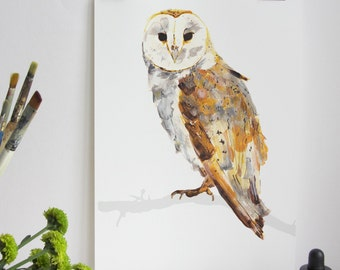 Great British Bird Print - Barn Owl