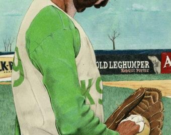 Boxer Dog Print, Baseball Print, Sports Watercolor Print