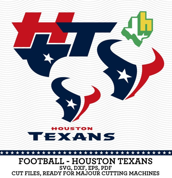 Houston texans football logo svg dxf eps pdf by for Houston texans logo template