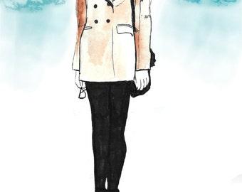 Fashion Illustration, Giclee Print, Fine Art Print