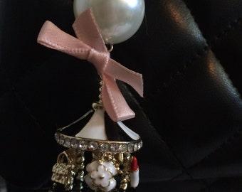 Chanel Inspired Carousel Bag Charm