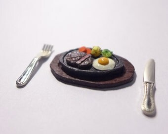 1:12 Mininature Steak Plate