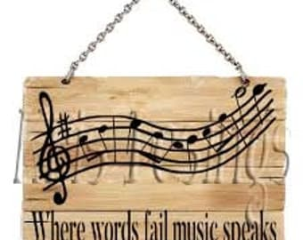 When Words Fail Music Speaks svg png jpg