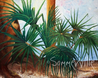 Art  - Print, Oil, Canvas Wrap  Palmetto II Print