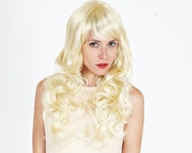 Long Layered Blonde Curly Wig