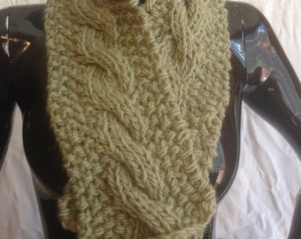 Popcorn Cable Scarf
