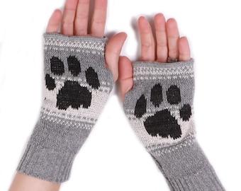 Kitty Paw Handwarmers - Grey