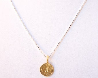 Handmade genuine sterling silver initial necklace