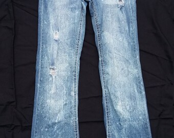 Women's Size 5/6 Ripped and Distressed Hydraulic Curvy Flare Jeans