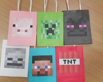 Favor Bags- Minecraft