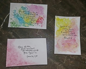 Heart Scriptures Watercolor-Set of 3