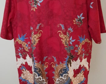King SlowMo Batik Shirt Collection - Raging Red Sea (Grand Opening discount 20% OFF) Listing Price