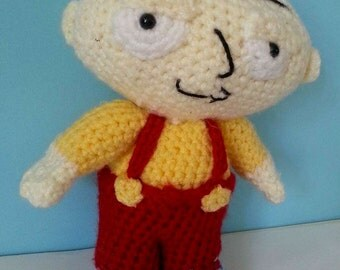 Crochet Stewie - Family guy -- Adult Gifts- soft toys