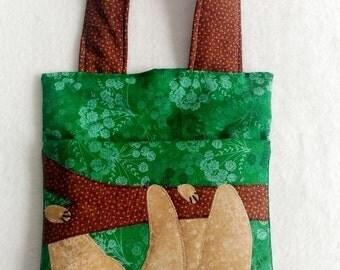 Sloth - Car trash bag - handmade vehicle organizer, litter bag - auto trash bag - car accessories, reusable garbage bag