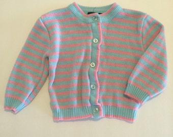 Pink and blue stripped cardigan