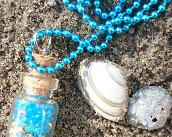 Beach Beads Bottle Necklace