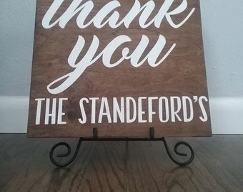 Reversible Wedding Thank you sign