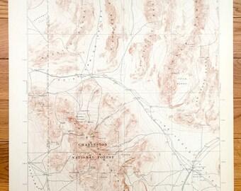 Antique Reno Nevada US Geological Survey Topographic Map - Us geological topographic maps