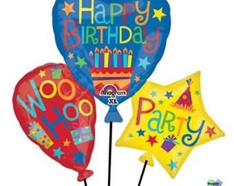 Birthday Balloon Cluster  – Bouquet Of Mylar Balloons