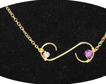 Gold S Curve Necklace