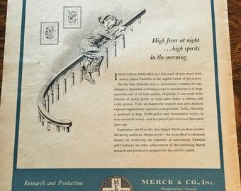 Merck Penicillin Ad from 1952 Better Homes & Gardens magazine