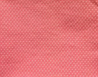 Salmon Color Polka Dot Fat Quarter - Quilting Cotton
