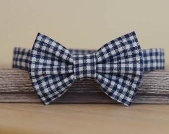 Baby boy Bow tie Natural linen bow tie Birthday bow tie Wedding bow tie Toddler bow tie Checkered bow tie Page boy bow tie