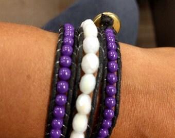 Purple and white Chan Luu bracelet