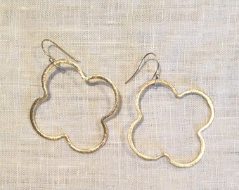 Gold Quatrefoil Earring