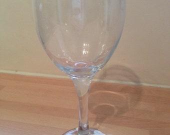 Decorated Wine Glass - Sleeping Baby