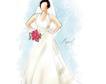 Custom Portrait Sketches - Bridal and Formal