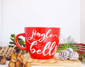 Christmas in July, Jingle Bells Mug, Christmas Gift, Gifts under 15, Christmas Quote Mugs, Xmas mug, Gift for coffee lovers, Holiday Mugs