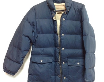 REI co op down jacket navy Small