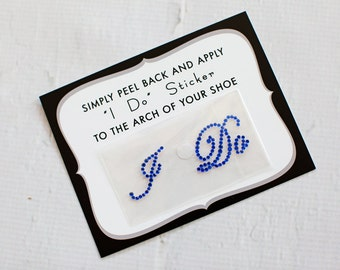 I Do Rhinestone Shoe Stickers for Brides, Wedding Shoes Sticker, Bridal Details, Something Blue | ROYAL BLUE