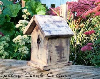 Nest Boxes, Bird Houses, Shabby Chic, Cedar Bird House, Handmade, Cottage Chic, Home Decor, Home & Living, Made To Order!