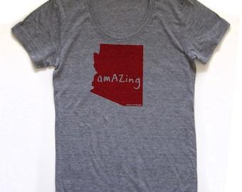 arizona tshirt, women's shirt, nyc tshirt, new york shirt, graphic t, witty tshirt, free ship