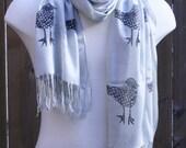 grey bird scarf